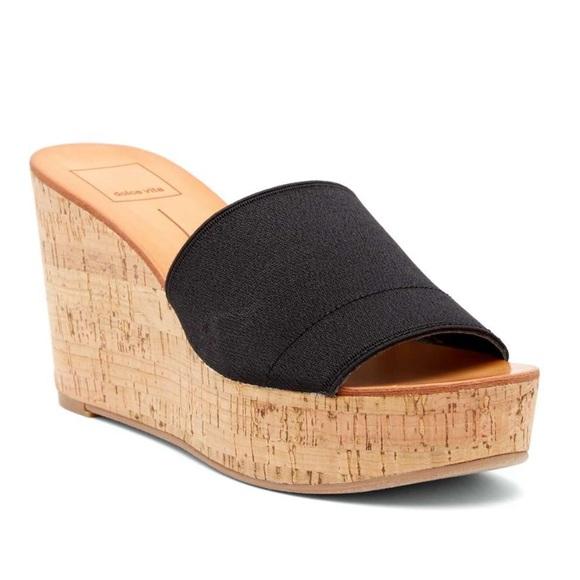 538ee09a53a NIB Dolce Vita Barkley Cork Wedge Sandal 👡 NWT
